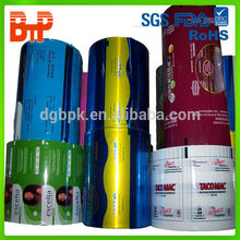 Opaque moisture proof printed laminated plastic sachet packaging film
