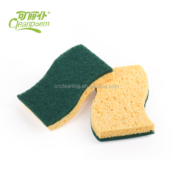 Colorful Household Cleaning dish sponge,washing cellulose scouring pads for Kitchen