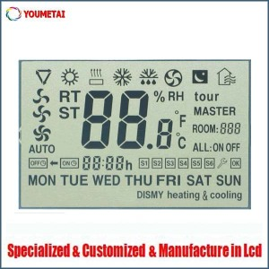 customized thermostat lcd display
