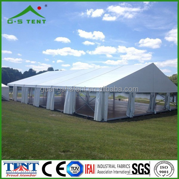decor wedding tent with curtain