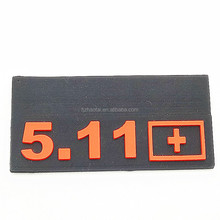 Custom design embossed self adhesive silicone 3d rubber labels/HIgh quality transparent rubber label