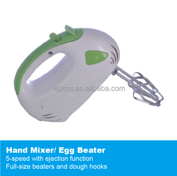 Household electric mini plastic low noise low power hand mixer 5-speed egg beater
