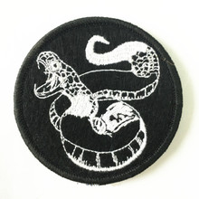 MotoPATCHES Snake Embroidered Iron On Patches For Clothes DIY Accessory Motorcycle Jacket Biker Vest Badges Patches