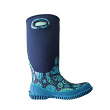Womens Printed Neoprene Garden Boots With Rip Stop Fabric