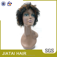 Cheap T color short kinky curly synthtic party wig