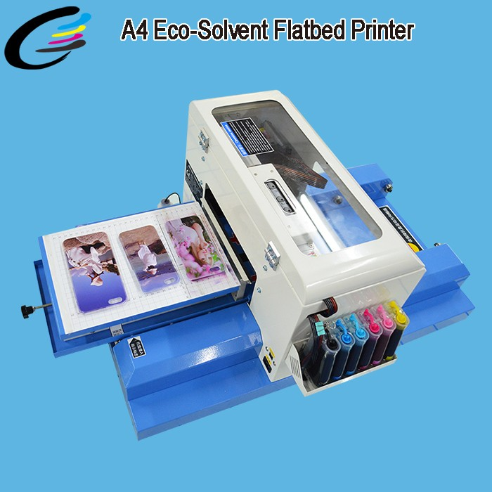 2017 Newest A4 Small Size Eco solvent Ink Digital UV Flatbed Printer