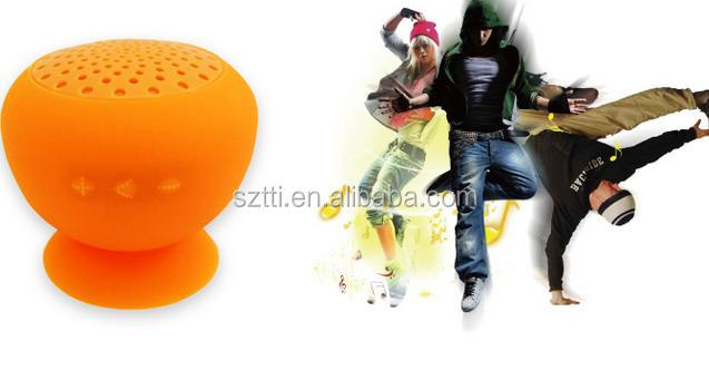 2014 creative wireless portbale mini mushroom waterproof shower speaker ,car phone speaker microphone