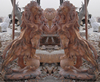Outdoor marble hand carved big stone lion statue