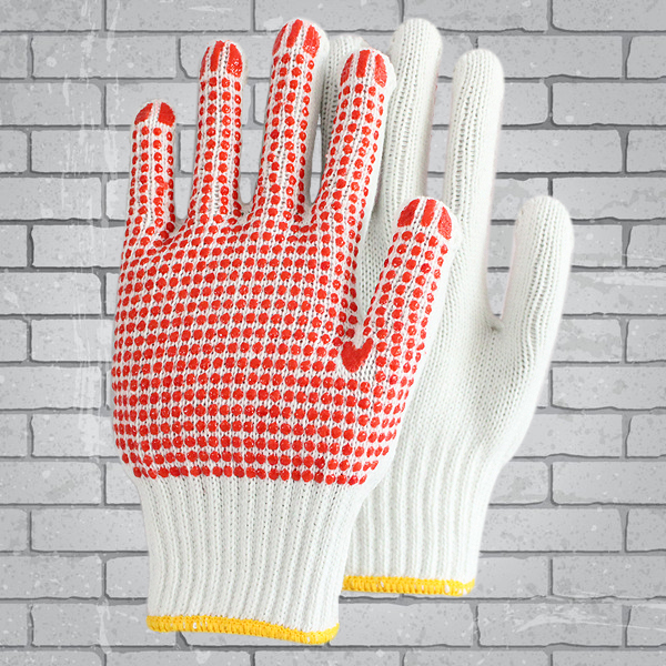 Construction Hand Gloves Dots Labour Protection Glove