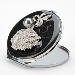 silicone purse mirror maquillaje pocket makeup mirror metal honeycomb mirror