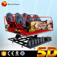 Hot Sale Theater Equipment 6 seat Mini 5D Cinema with Hydraulic/Electric System