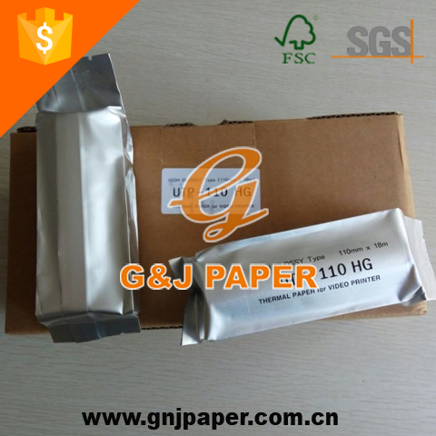 110*20m Medical Ultrasound Thermal Paper Used on Video Printer