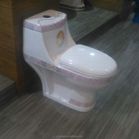 Custom-made colored modern design toilet sitting pan