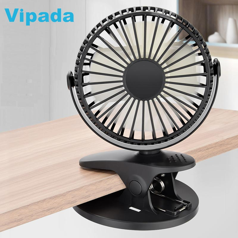 XH-<strong>09</strong> Clip On Rechargeable Fan USB Battery Mini Desk Stand Small Chargeable Fans For Baby Stroller Camping Outdoor Home Office
