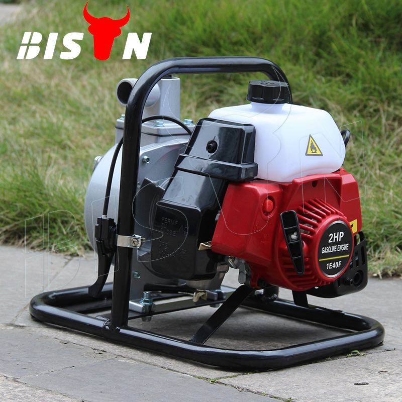BISON(CHINA) BS10 Low Pressure 2 Stroke Irrigation Portable Mini Gasoline 1 Inch Water Pumps For Sale