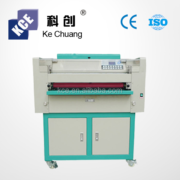 Package cow goat leather UV varnish coating machine, uv embossing machine, UV coater cast and cure