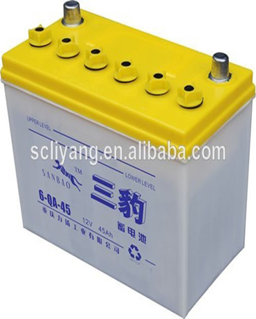 New design 12V 45ah dry cell scrap lead acid car battery