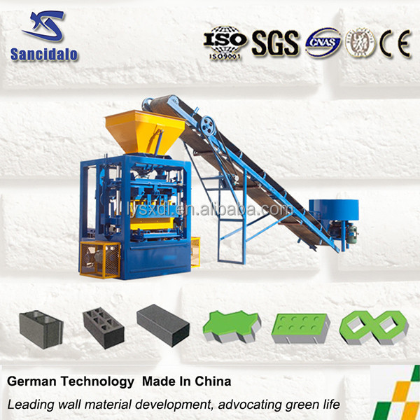 Profitable investment project! semi-automatic concrete block machine, small hollow block making machine