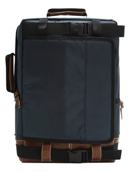 Corean style shoulder backpack for school in dark green