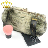 Hot Sale Fashion Imitated Animal Furs Bag Ladies Clutch Evening Bags