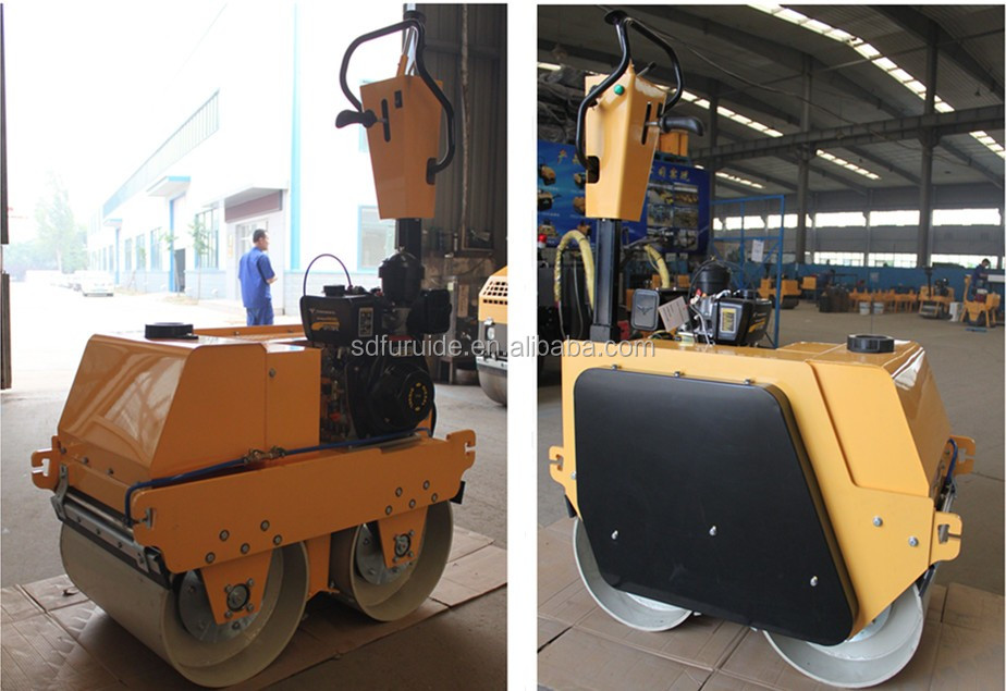 600kg Walk-behind Vibratory Mini Double Drum Roller (FYLJ-S600C)