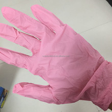 S.A.R Pink Nitrile gloves that can stand thinners