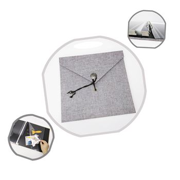 Loose-Leaf Binding Square 10x10 Hardcover Linen Photo Album Adhesive Pages With String Closure