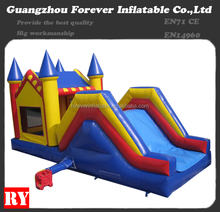 Custom green zoo combo small indoor inflatable slide for sale