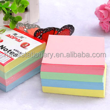 colorful paper cube/memo pad/sticky note