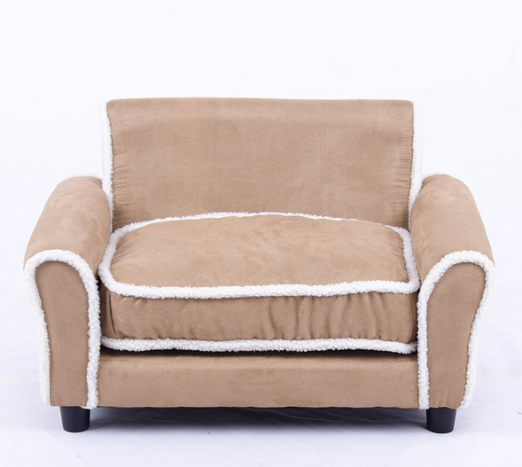 Cheap price sell fabric soft dog sofa