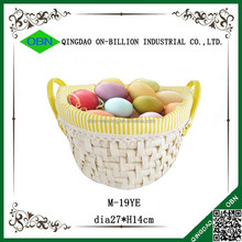 Maize material woven basket easter with liner