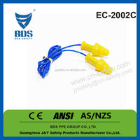 2015 Hot sale ce standard silicone hearing protecting hearing protecting earplugs with cord