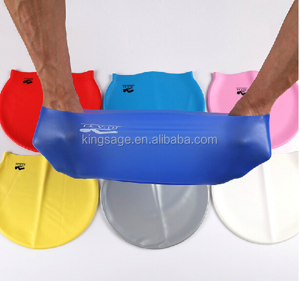 soft liquid silicone swimming caps with logo custom printing available