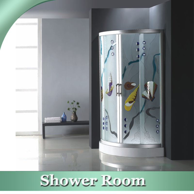 HS-SR866 90x90cm 1 piece shower enclosure,toughened glass shower room