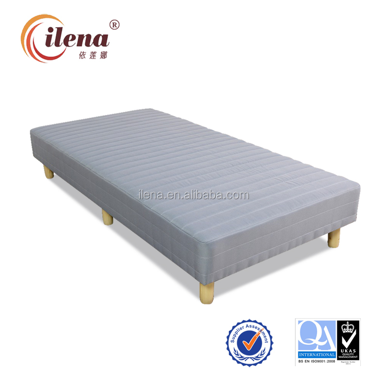 Durable bonnell spring cot wooden mattress bed(JM-d250hb)