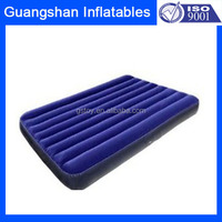 camping air inflatable flock bed pad for one person
