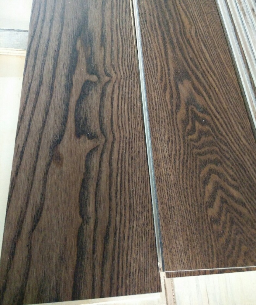 Multilayer Ash Timber Top Quality Solid Wood // engineered wood floor grey color