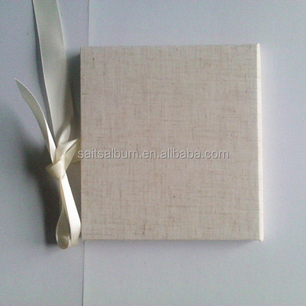 High Quality fabric CD/DVD case holder with ribbon wholesale online