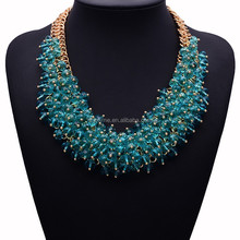 fashionable handmade bijoux jewelry high quality handmade crystal necklace buyers for costume jewelry