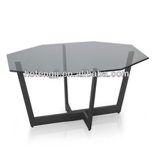 Grey smoking glass coffee table furniture fashion design