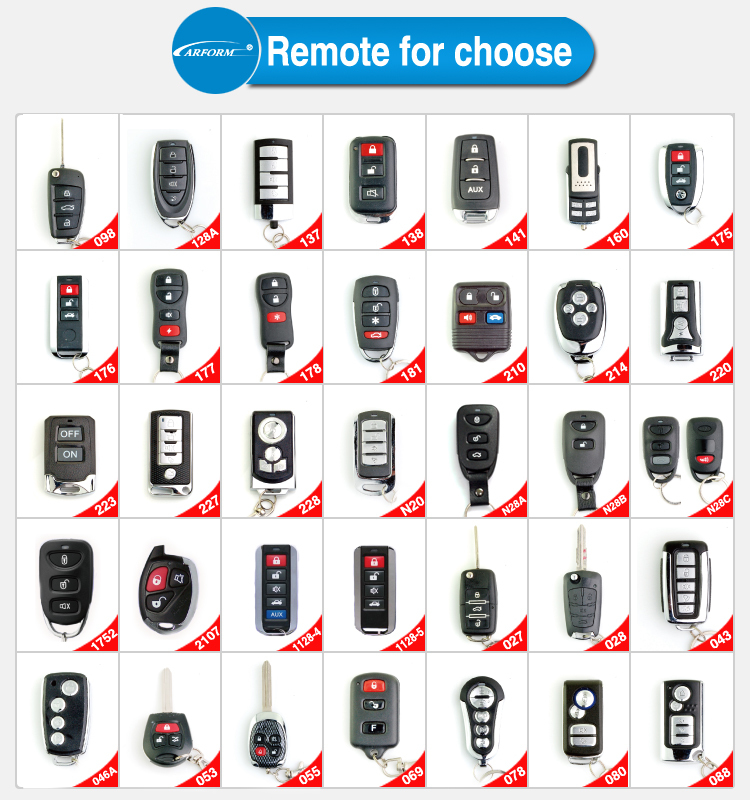 Popular Remote One Way Car Alarm Anti-hijacker One Way Car Alarm System