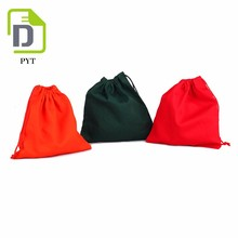 September Promotions cotton rope drawstring color cotton bag custom