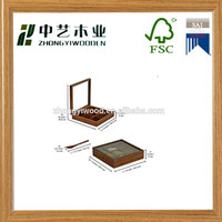 Trade assurance wooden condiment holder kitchen serving crate box with compartment