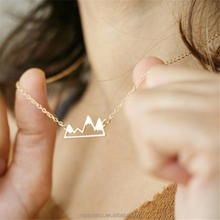 Gold mountain necklace,Snowy Mountain charm Necklaces Fashion Jewelry For Women