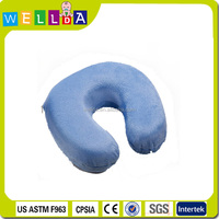 2015 Hot sale high quality u shape memory foam airplane sit neck pillow