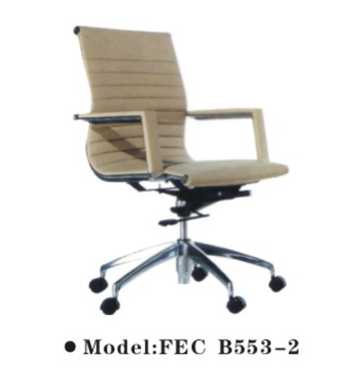 Middle back boss office chair with white pu leather seat and back