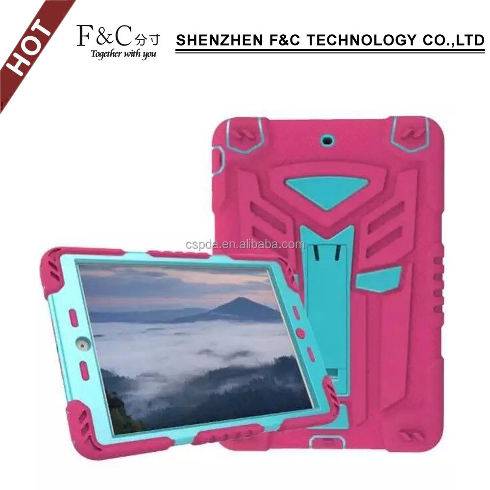 2017 hot new products leather for ipad air 2 smart cover case leather pocket protective hard combo armor case