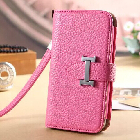 Folding Pouch Cow Leather For iPhone 6+ Leather Purse Smart Phone Wallet Leather Case For iPhone 6 Plus