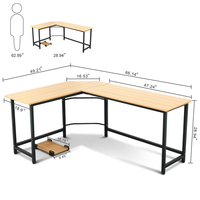 L Shaped MDF Computer table
