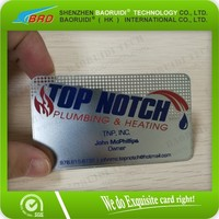 Plastics Products Metal Business Card With